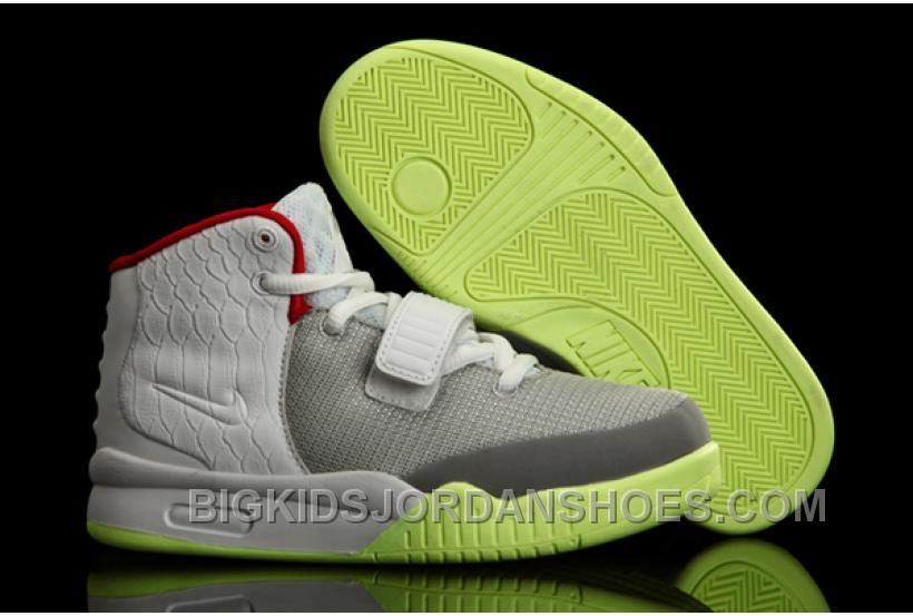 Nike Air Yeezy 2 Kids Shoes Wolf Grey