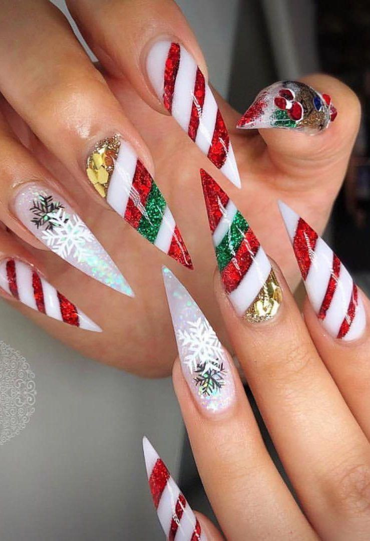 Nail Designs For Christmas 2019.25 Bright And Awesome Christmas Nails Art Design And Polish