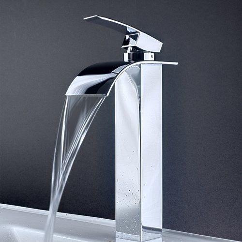 Low Led Single Handle Bathroom Lavatory Vessel Faucet Contemporary Bathroom  Faucets