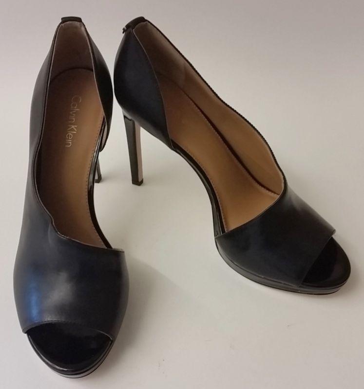 0ac91f08e31 Calvin Klein Shoes D Orsay Pumps Heels Black High Saira Womens Size US 9 EU