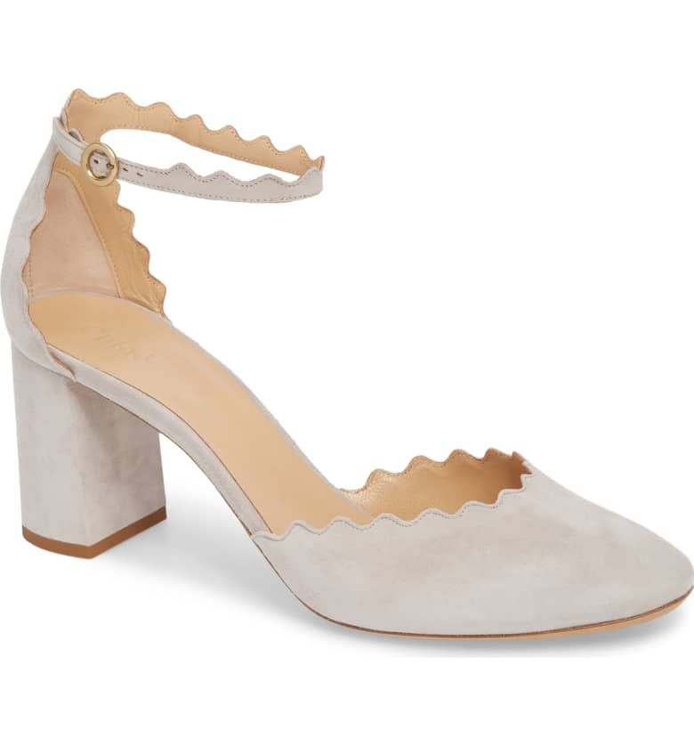 9e3b8f0c550 GREY SPECIFICALLY FOR GANNI DRESS...Scalloped Ankle Strap d Orsay Pump