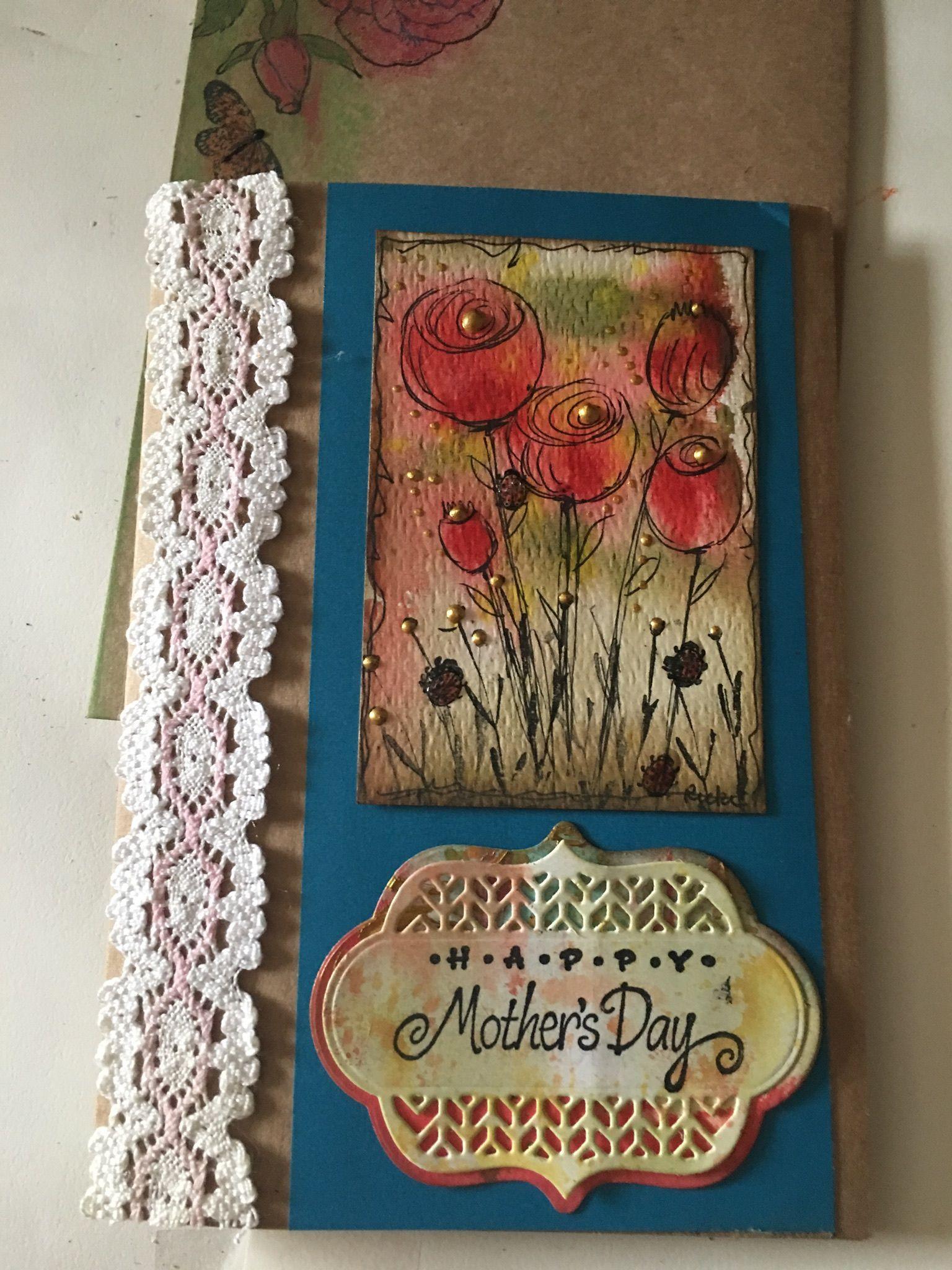 Motherus day card rickius handmade cards pinterest cards