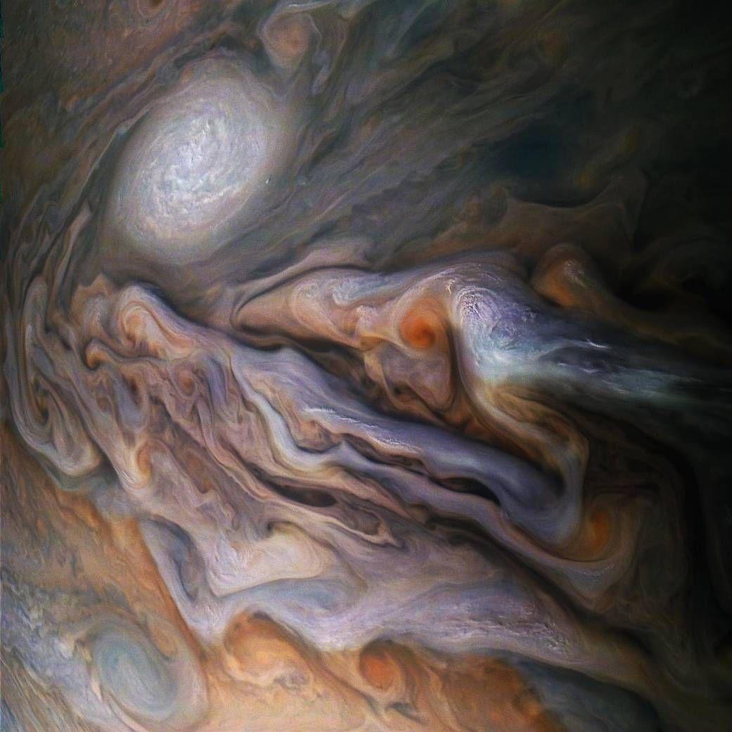Jupiter's Magnificent Swirling Clouds   NASA