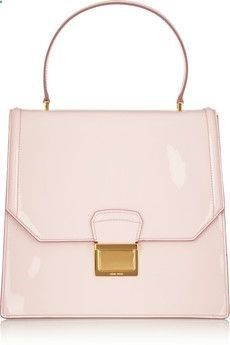 Miu Lady Patent Leather Tote Pale Pink
