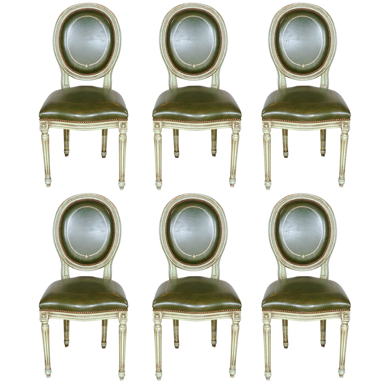 Set Of 6 French Louis XVI Dining Chairs