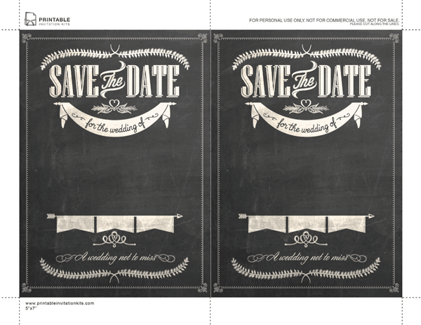 Free stylish chalkboard save the date template enter info then get free stylish chalkboard save the date template enter info then get printed at costco staples stopboris Choice Image