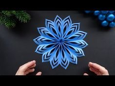 Easy Paper Star for Christmas - How to make an easy paper snowflake