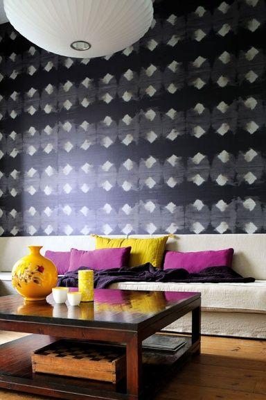 Tapeten-Trends Schimmernd \ - moderne tapeten fr schlafzimmer