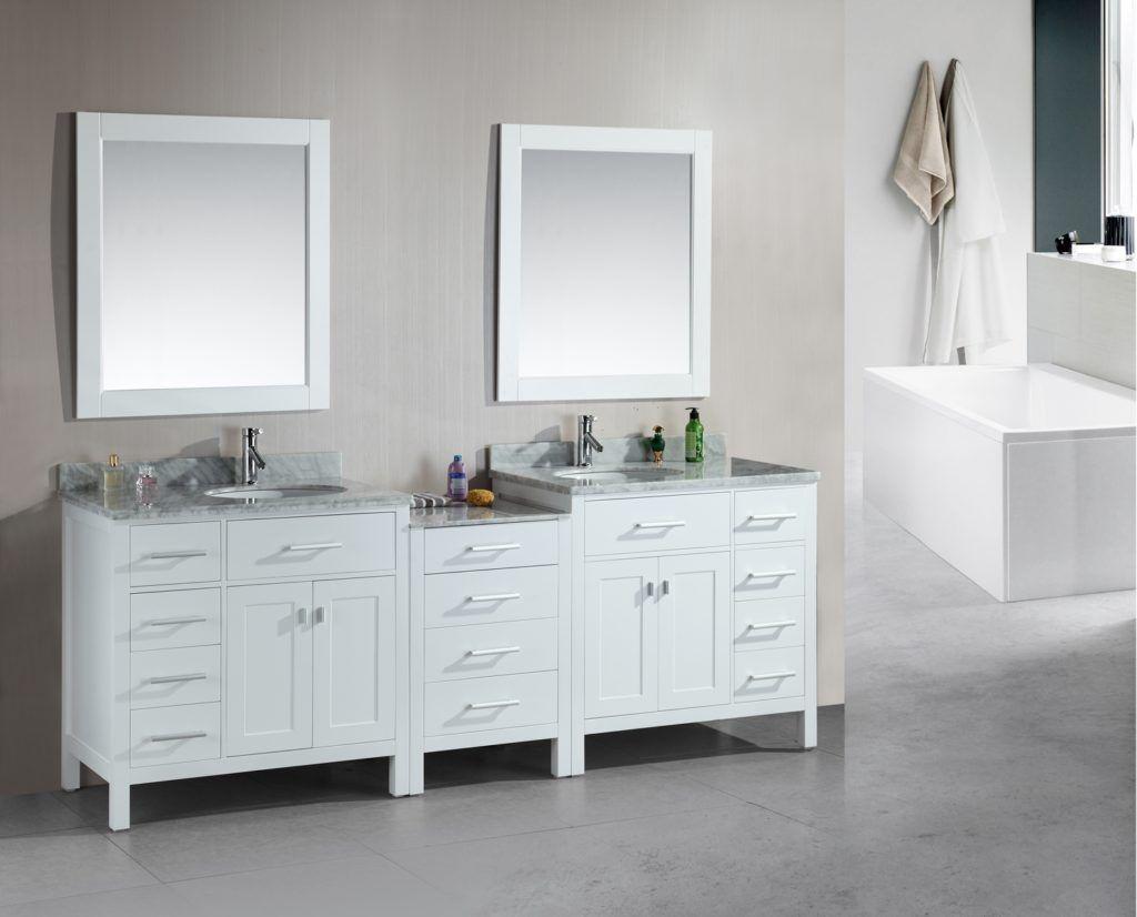 2 Sink Bathroom Vanity white 2 sink bathroom vanity | bath rugs & vanities | pinterest