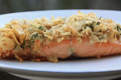 Potato Chip Crusted Salmon from EVERYDAY SISTERS
