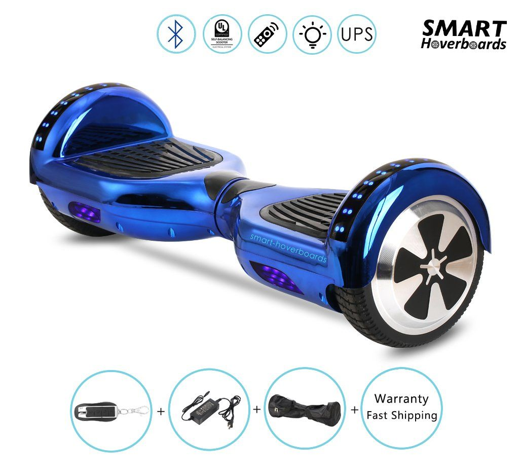 Chrome Gold Hoverboard For Kids In Xmas With Bluetooth Speaker Remote And Led Light Leds
