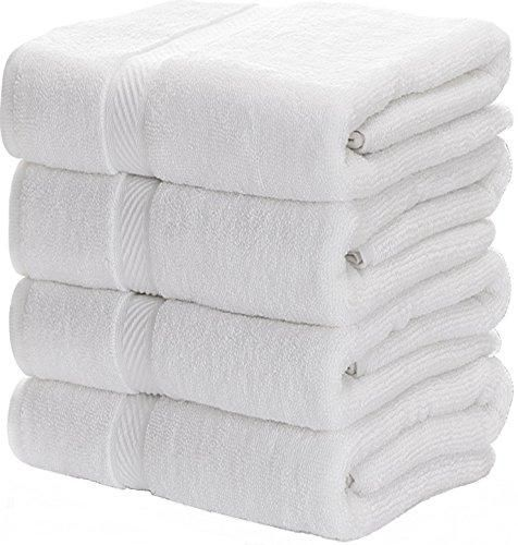 Brand White Classic Color White Features 4 Matching Bath Towels Generously Sized At 27 X 54 Plush Soft And Super Ab White Bath Towels Best Bath Towels