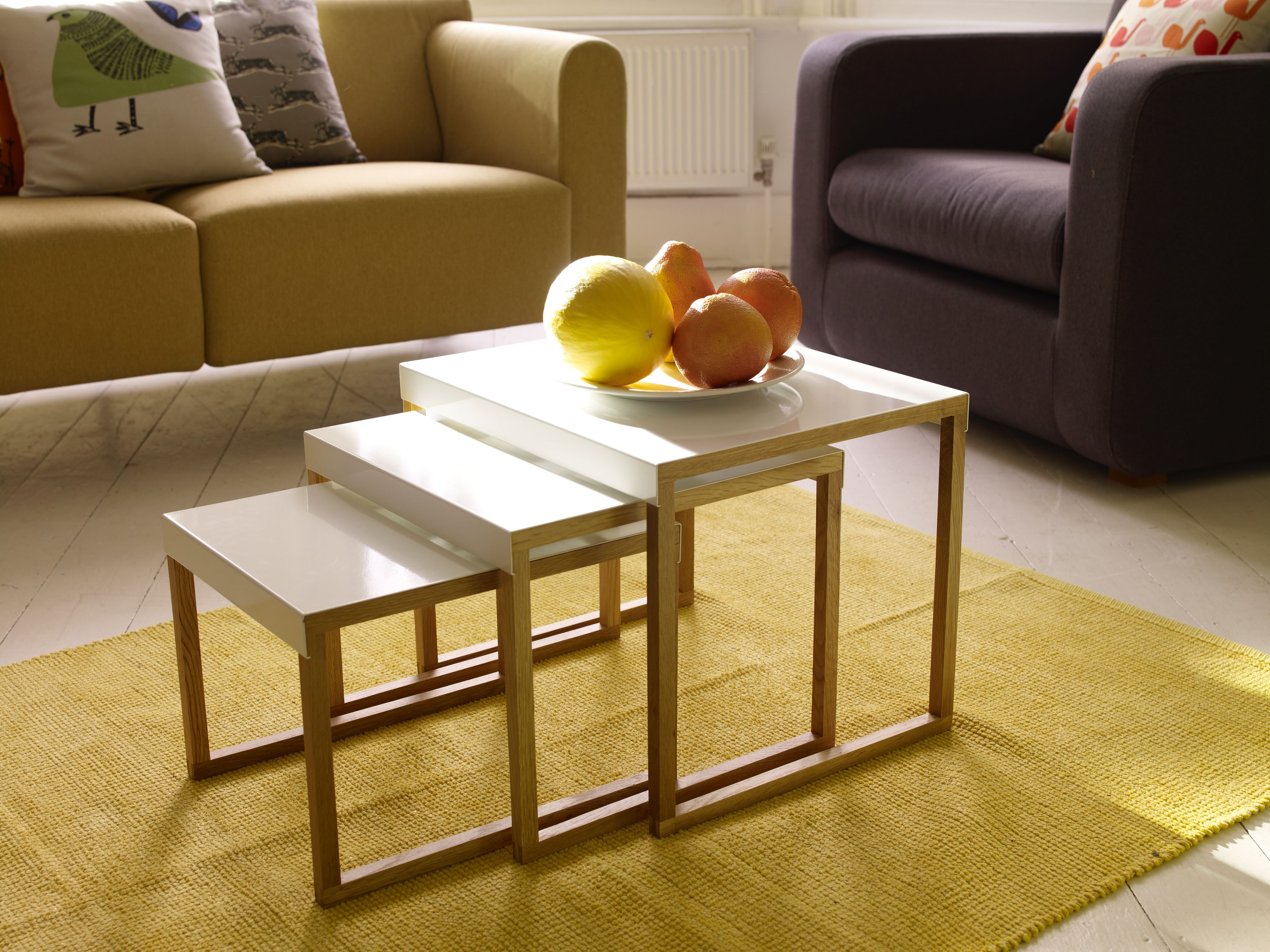 Kilo nest of white tables Perfect for the living room next to the