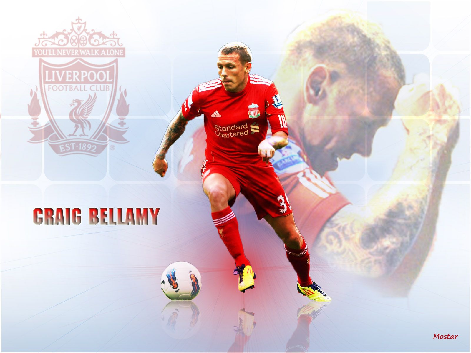 Craig Bellamy Ace Liverpool Football Club Liverpool Football Football Ball