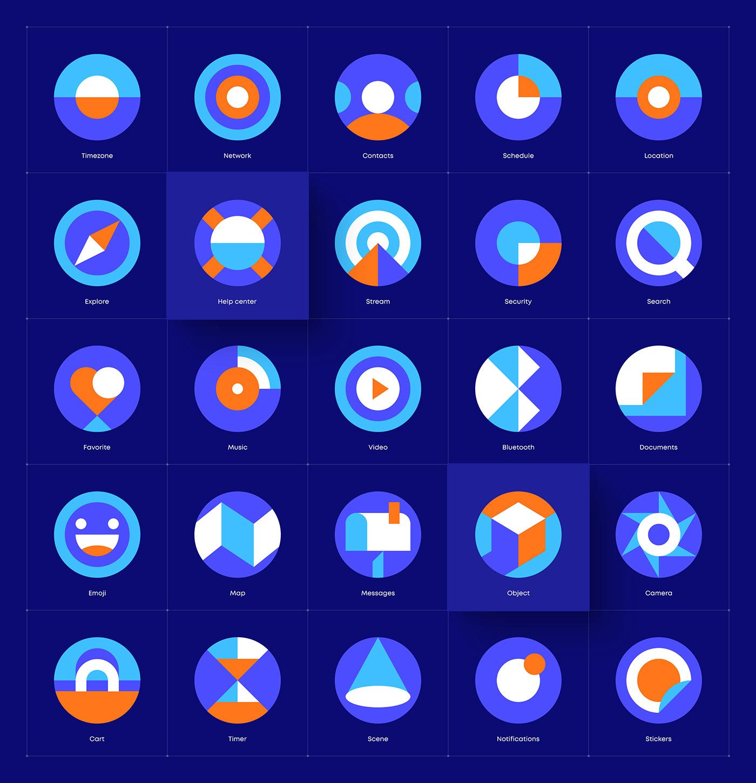 Search Behance의 사진 비디오 로고 일러스트레이션 및 브랜딩 In 2020 Icon Design Inspiration Simple Icon Icon Design