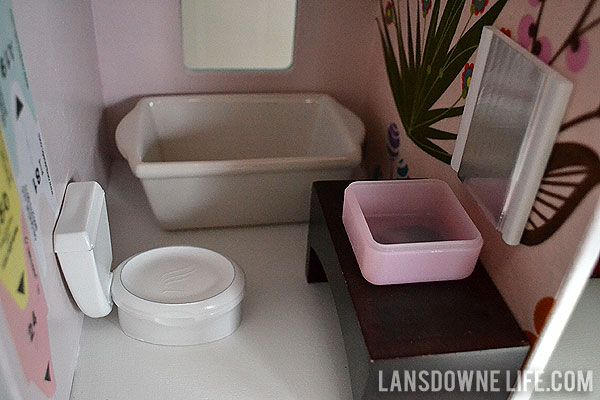 Toilet Tank Is Dental Floss Container Lansdowne Life DIY Dollhouse Bathroom Furniture Part 6 Of