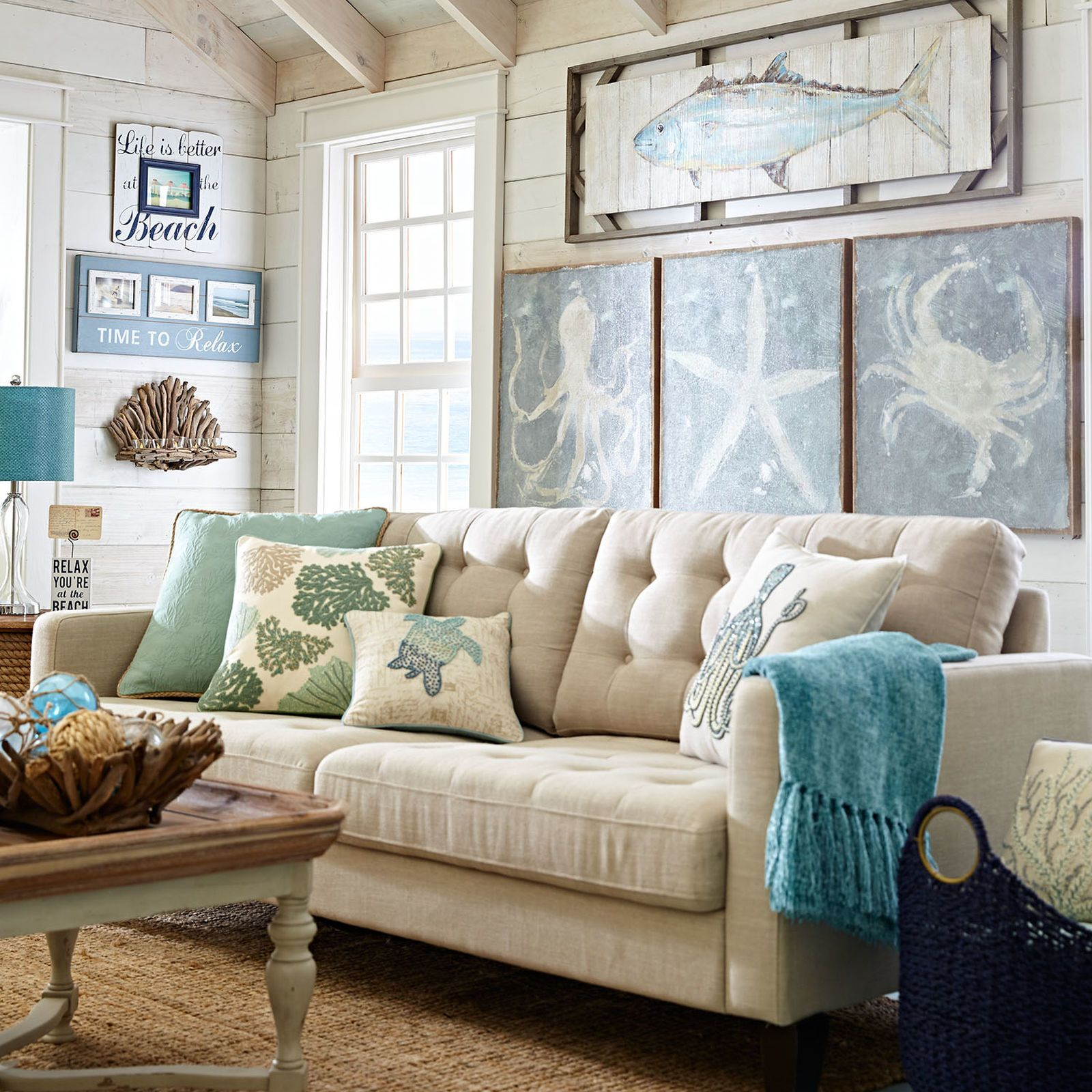 Nyle Sofa With Images Beige Living Rooms Nautical Living Room