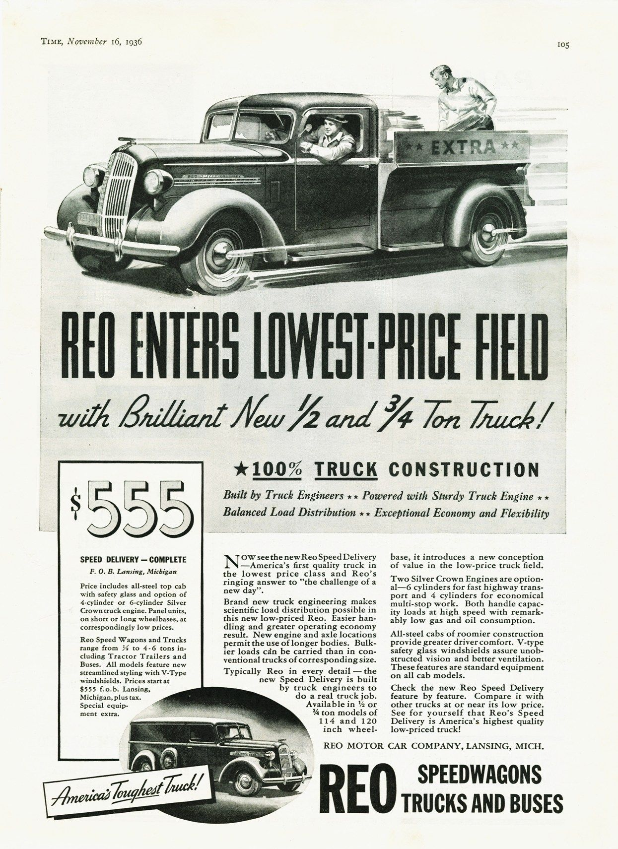 1937 Reo Truck Ad-02 | Ads Old & New | Pinterest | Ads, Cars and ...