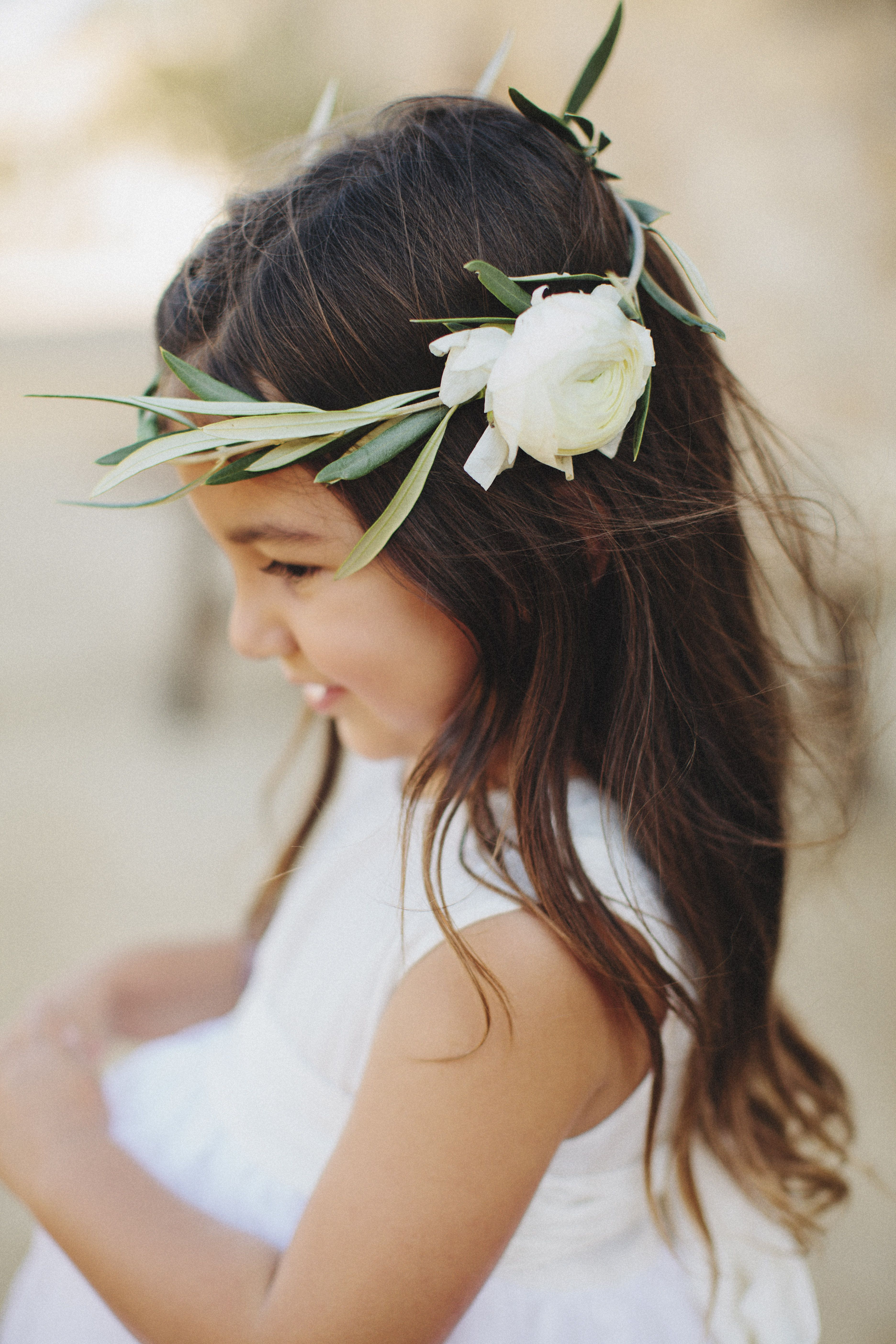 Olive branch flower crown for this beautiful flower girl sunstone olive branch flower crown for this beautiful flower girl sunstone villa wedding i very much enjoyed working on image by matthew morgan izmirmasajfo