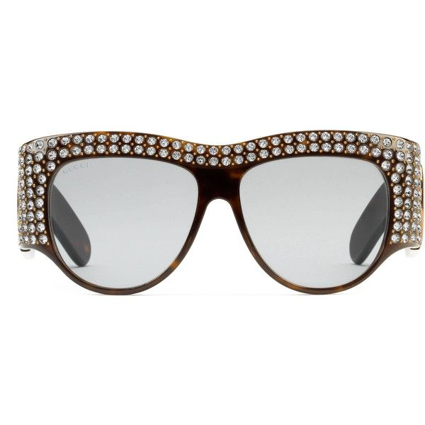 214a922e524 Gucci Oversize Acetate Sunglasses With Crystals ( 1