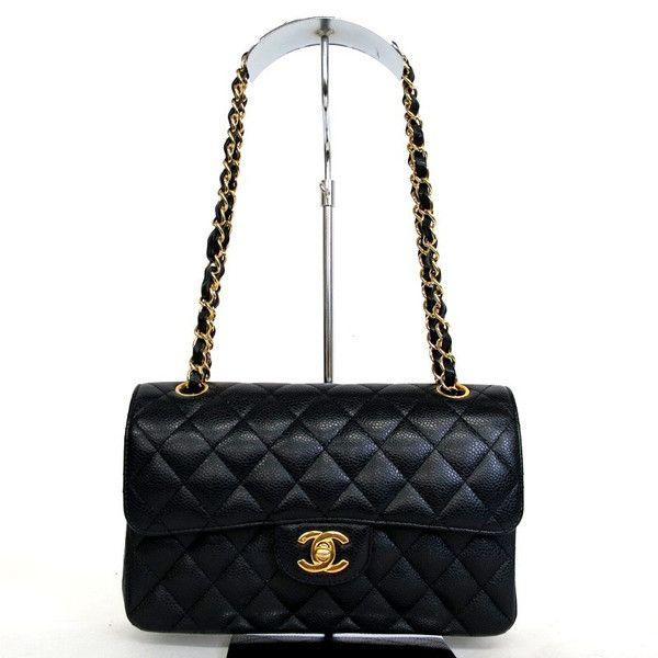 【中古】CHANEL(シャネル) マトラッセ Wフラップ Wチェーン ショルダー バッグ キャビアスキン ブラック ゴールド金具/新品同様・極美品・美品の中古ブランドバッグを格安で提供いたします。