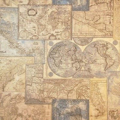 Contemporary vintage atlas globe map wallpaper world office school contemporary vintage atlas globe map wallpaper world office school education bar on ebay gumiabroncs