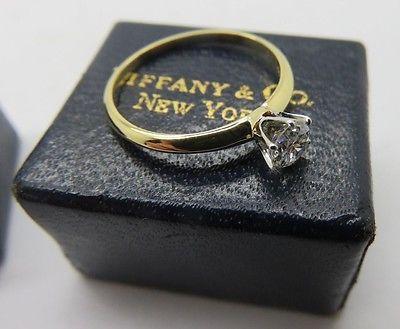 ANTIQUE TIFFANY CO 18K AND PLATINUM DIAMOND ENGAGEMENT WEDDING