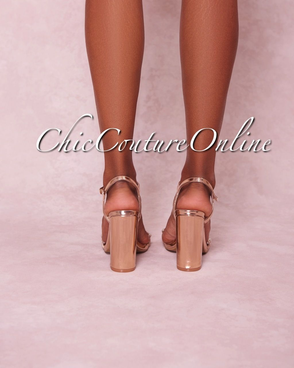 df6ccef4e6a Rosalind Rose Gold Pearl Strap High Heel Sandals | SHOES ...