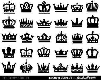Imgenes Prediseadas de la corona rey reina corona Clip Art