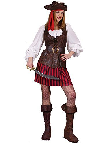 FunWorld High Seas Buccaneer BrownRedWhite 28 Small Costume -- See this great product.