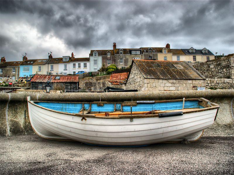 Boat & Buildings - Portland, Dorset