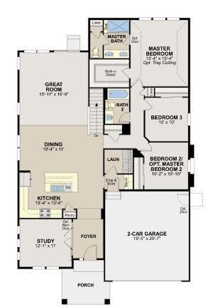 Ryland Homes The Bliss Plan Candelas Floorplans