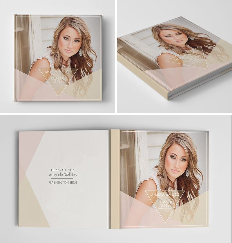 Senior album book cover template for photographers for Free senior templates for photoshop