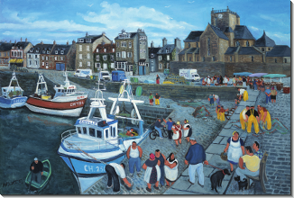 Margaret Loxton : The Church at Barfleur, Normandy