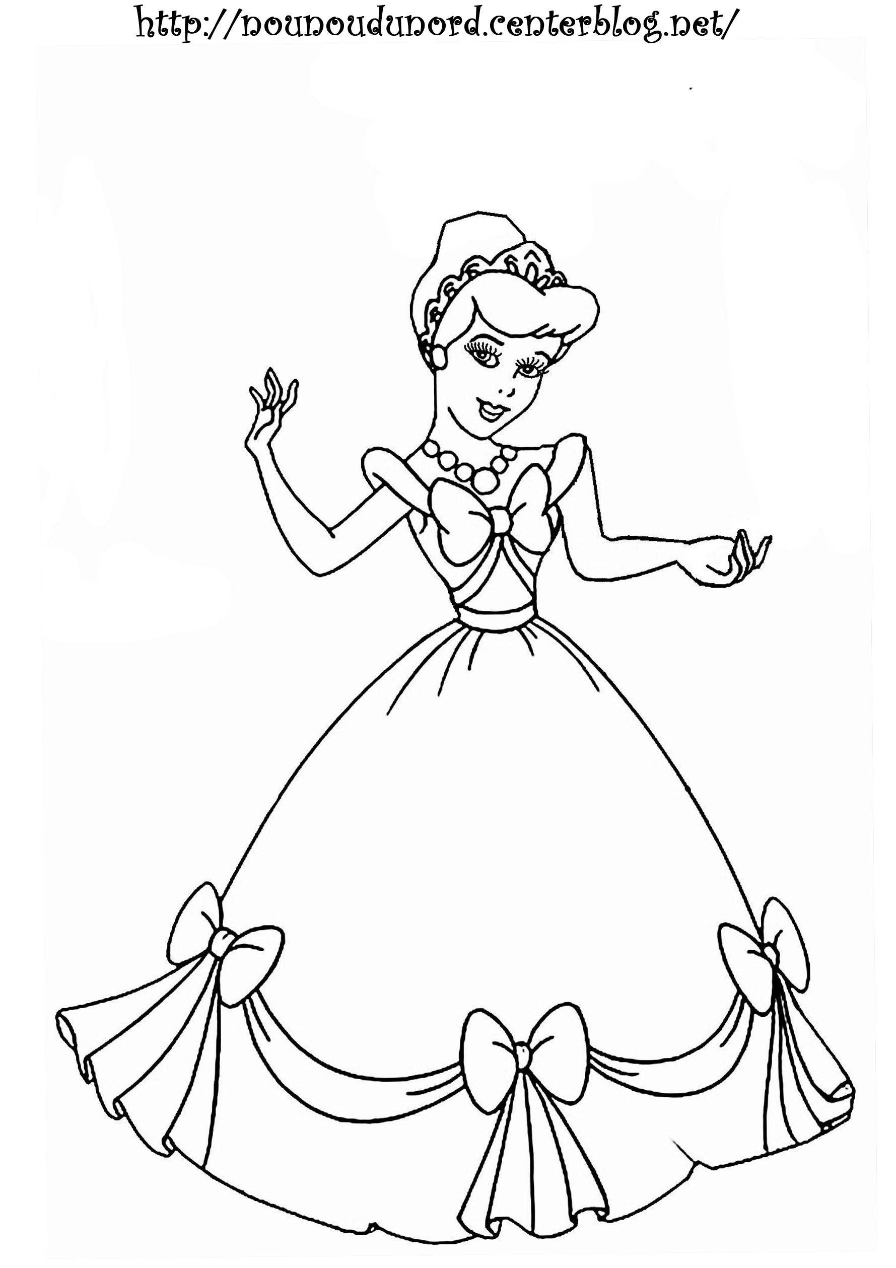 Coloriage Princesse à colorier - Dessin à imprimer in 22