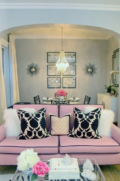 I want a PINK sofa! So girly!