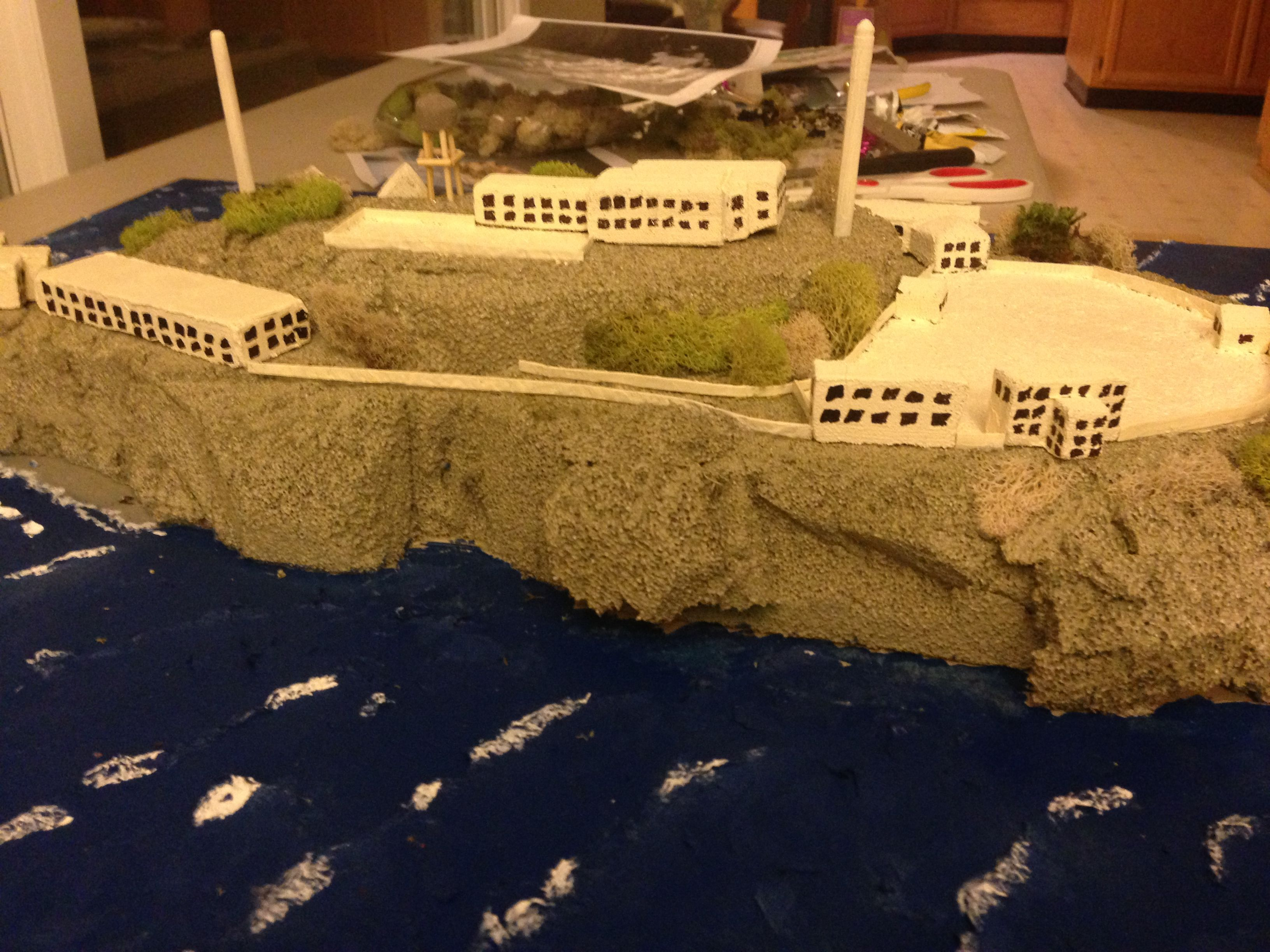 Model Of Alcatraz By Colin In 4th Grade Alcatraz Science For