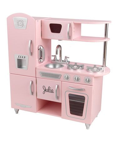 Pink Personalized Vintage Kitchen  http://www.zulily.com/invite/jpalmer893/p/kidkraft-pink-personalized-vintage-kitchen-23282-1936689.html?tid=referral_pinterest.....too bad i don't have any girls  :(