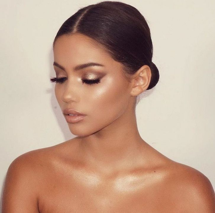 Photo of Glowy Wedding Makeup Dewy Skin – Make up and hairstyle suggestions – #DEWY #Frisuranr …