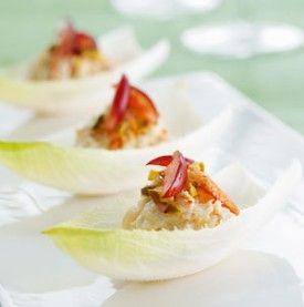 Witloofbladeren met krabsalade - Recepten - Culinair - KnackWeekend.be