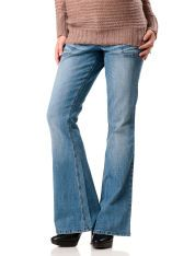 No Belly Slim Fit Skinny Flare Maternity Jeans