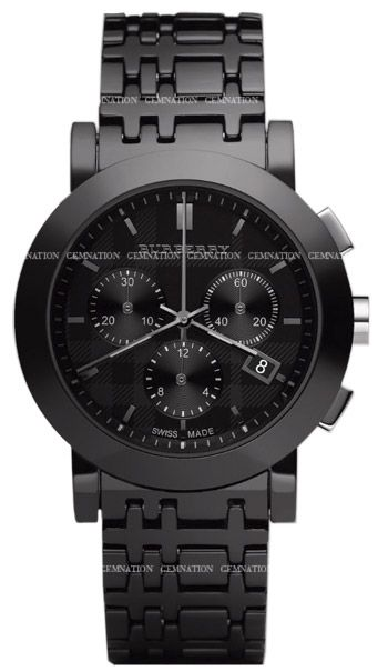 Burberry ceramic chronograph mens wristwatch model bu1771 retail price our price for Retail price watches