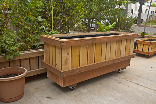 Rolling Pedestal Planter On And Not On Wheels Heights Up To 42 Fully Assembled Made Of Su Raised Planter Beds Movable Garden Beds Modern Planters Outdoor