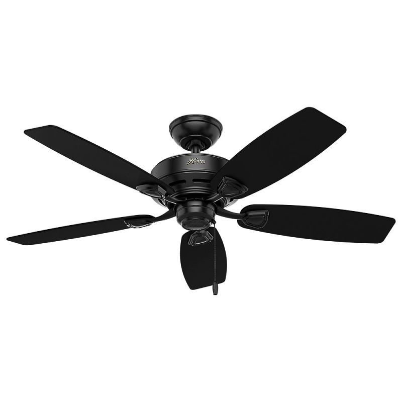 Hunter Sea Wind 2 48 Outdoor Ceiling Fan 5 Reversible Blades Included Matte Black