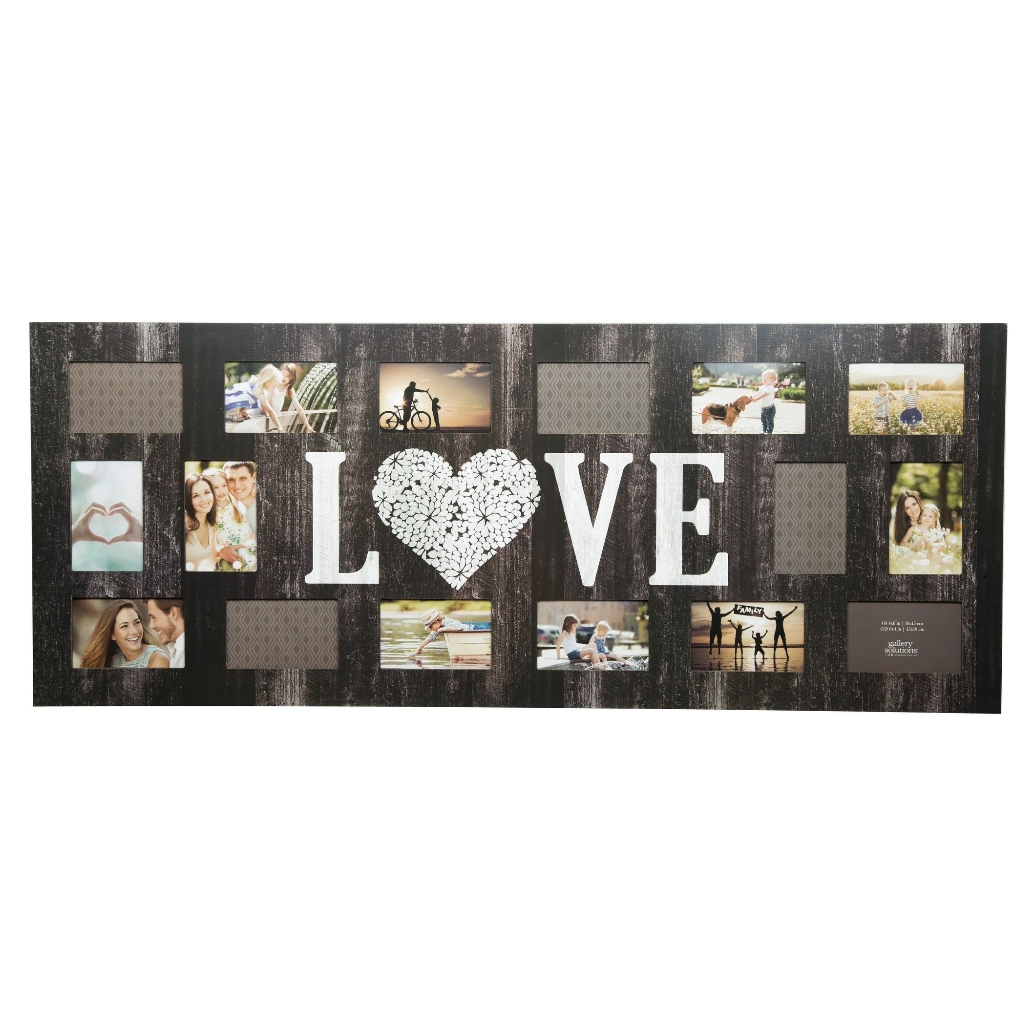 16 Opening Love Collage Picture Frame, Black,