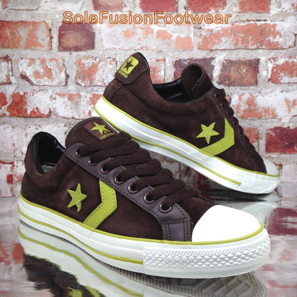 Converse Mens All Star Player Shoes Brown sz 10 Suede