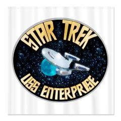 Star Trek Enterprise Shower Curtain With Images Star Trek