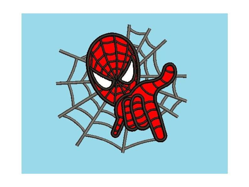 Digital instant download file 8 formats in 4 sizes #055 Superhero Embroidery Designs Spider-man Applique Embroidery Designs