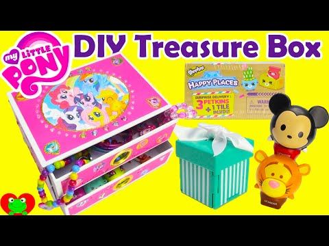 My Little Pony Jewelry Box Prepossessing Diy Treasure Box My Little Pony Jewelry Box With Surprises With Toy Design Decoration
