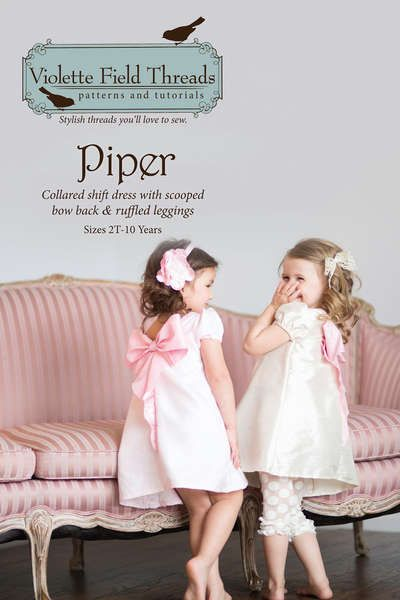 Piper Girls Dress Pattern by Violette Field Threads, Girls Dress ...